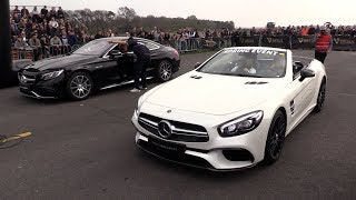 2018 Mercedes AMG SL63 vs Mercedes AMG S63 Coupe vs Liberty Walk GTR