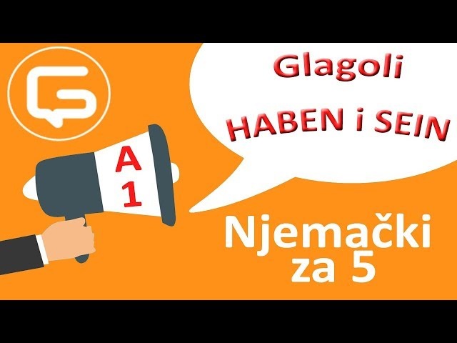 Njemački za 5: Glagoli HABEN i SEIN (epizoda 5)