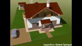 проект частного дома с мансардой и террасой(частный дом с мансардой, проект Олега Гречуха., 2015-04-24T21:24:48.000Z)