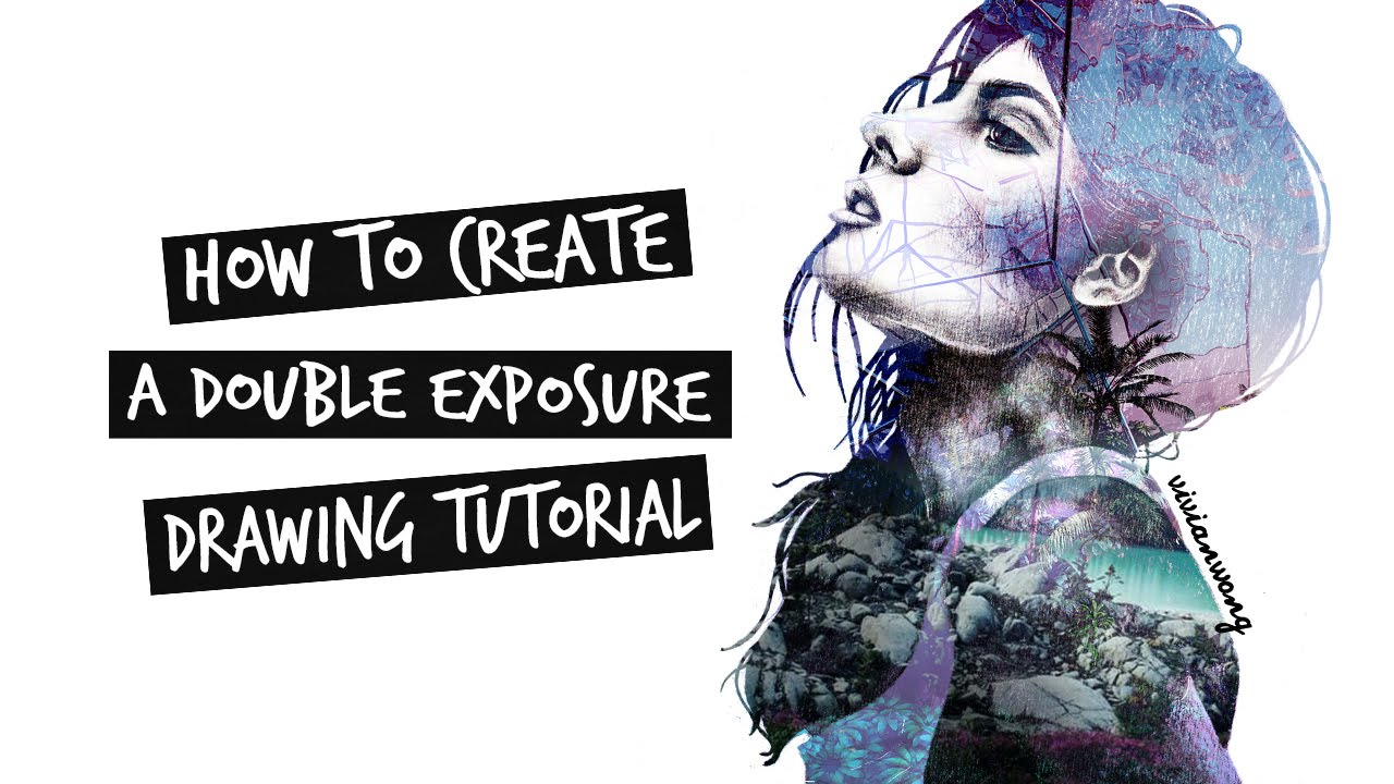 how to create double exposure portraits