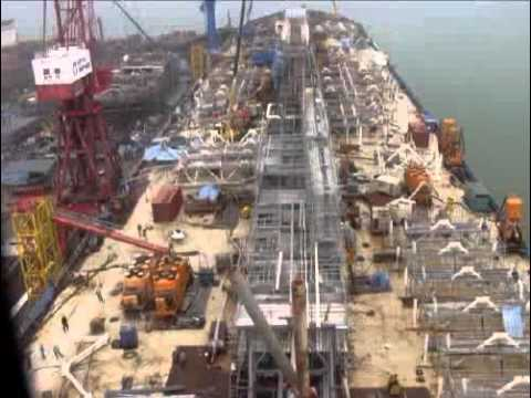 Time lapse of FPSO