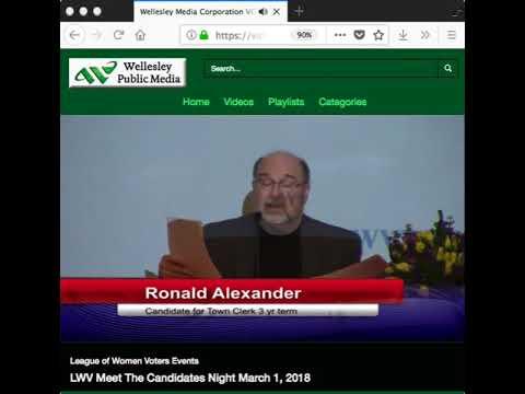 Ron Alexander   On Public Records