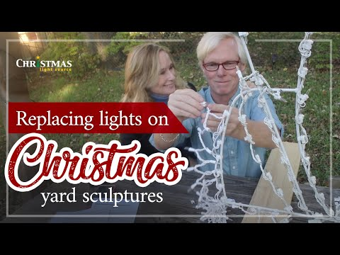 Replacing Lights on Christmas Yard Sculptures