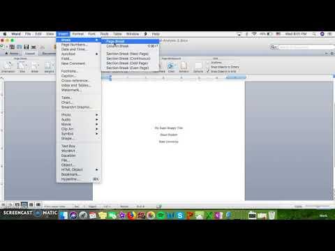 APA Page Setup using Microsoft Word for Macs