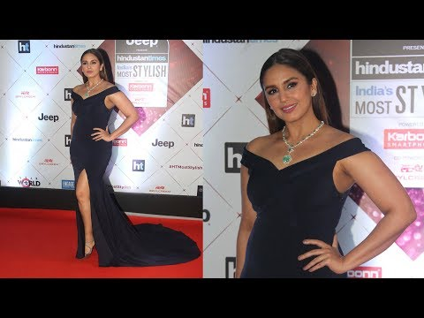 Huma Qureshi In Fashion Outfit At Red Carpet Of Ht Most Stylish Awards 2018