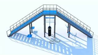 Functional Training Staircase Demonstartion Fitness Obstacle Course Equipment