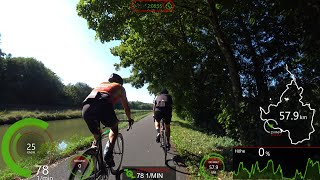 France Cycling Video for long Indoor Bike Workout with Cadence Display 4K