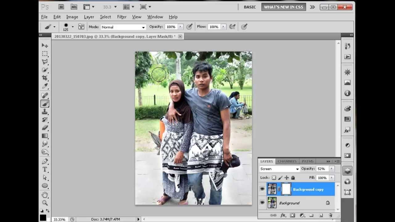 cara edit foto di photoshop - YouTube