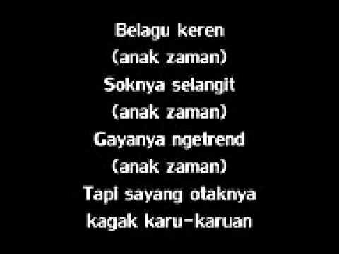 Alfred Phobia   Anak Zaman lyrics @njowo