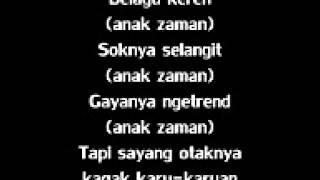 Alfred Phobia   Anak Zaman lyrics @njowo Mp3