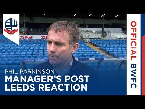 PHIL PARKINSON | Manager's post-Leeds United reaction