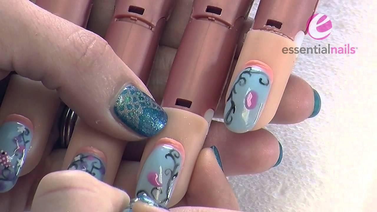 Becca Walton - Easter Egg & Bird - UV Gel Polish Nail Art ...