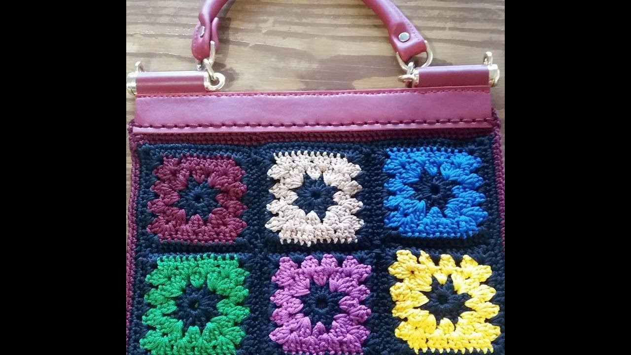 Pattella Borsa 1850 Granny Square Youtube