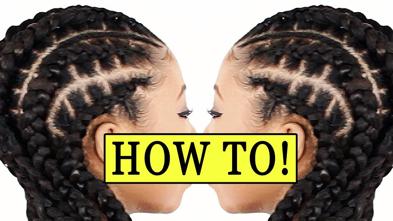 Stitch Braids 4 Beginners Feed In Braids Youtube