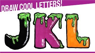 How To Draw 3D Letters JKL For Halloween! Draw Halloween Stuff!