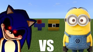 What Happens When You Spawn Sonic.exe & Minions in Minecraft PE?