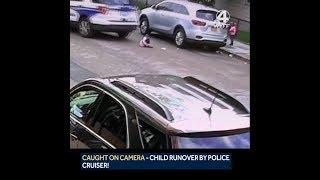 Toddler run over by Boston police cruiser