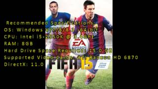 FIFA 15 System requirements PC