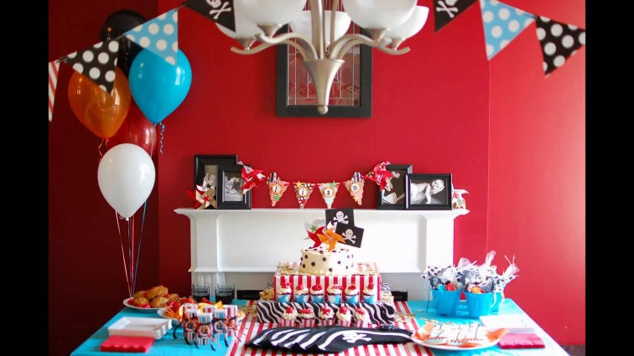 Cool diy birthday party decorations at home youtube for Home decorations for birthday