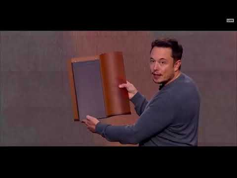 Elon Musk Unveils New Solar Roof, Powerwall 2 & Powerpack 2 Tesla & SolarCity (2016 10 28)