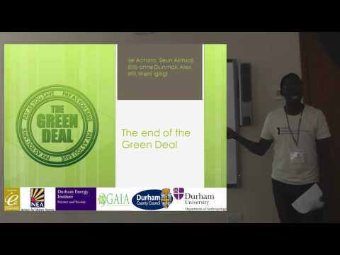 MSc Energy and Society report on green deal