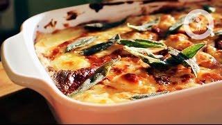 Лазанья с белыми грибами и соусом бешамель (Lasagna with mushrooms)