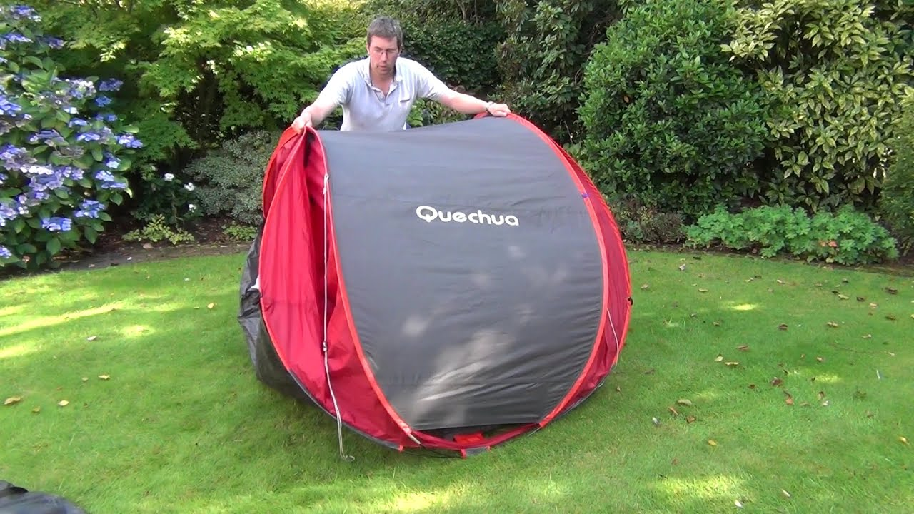 Fold Away a Quechua 3-seconds Pop-up Tent - YouTube : quecha tent - memphite.com