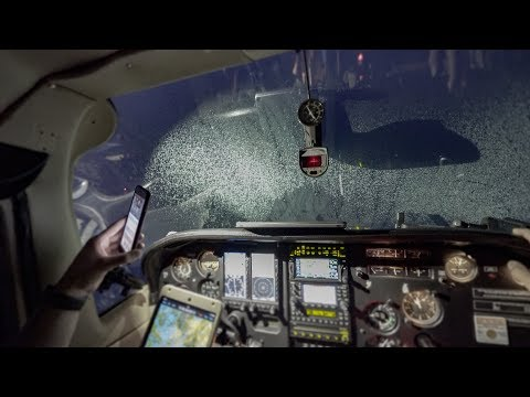 Unforecast ICING At Night, Flying In Europe