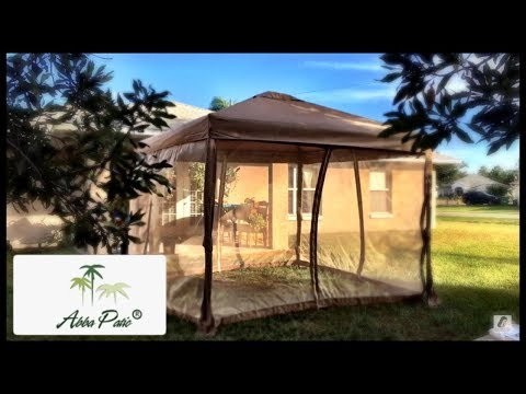 Building A 10x10 Canopy Gazebo With Mosquito Netting From Abba Patio + Review   Namaste CC ॐ