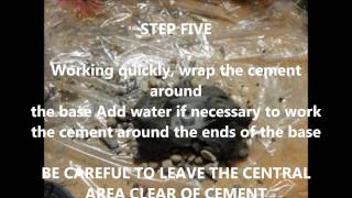 Aquarium Diy Concrete Bottom Plastic Plants