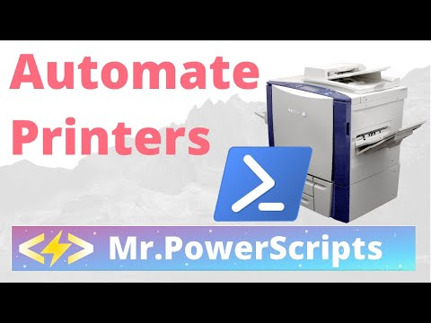 Automate Installing Printers With Powershell