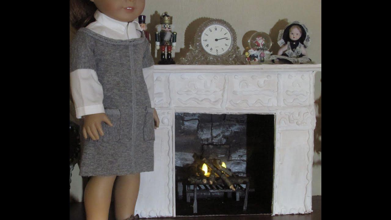 DIY American Girl Fireplace  YouTube