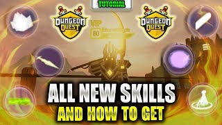 ALL King Castle SKILLS and where to GET THEM | Roblox | Dungeon Quest