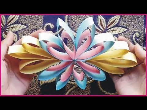Paper Crafts Ideas For Christmas Decorations | Multi Colored Hanging Paper Circle By Golden Hacks