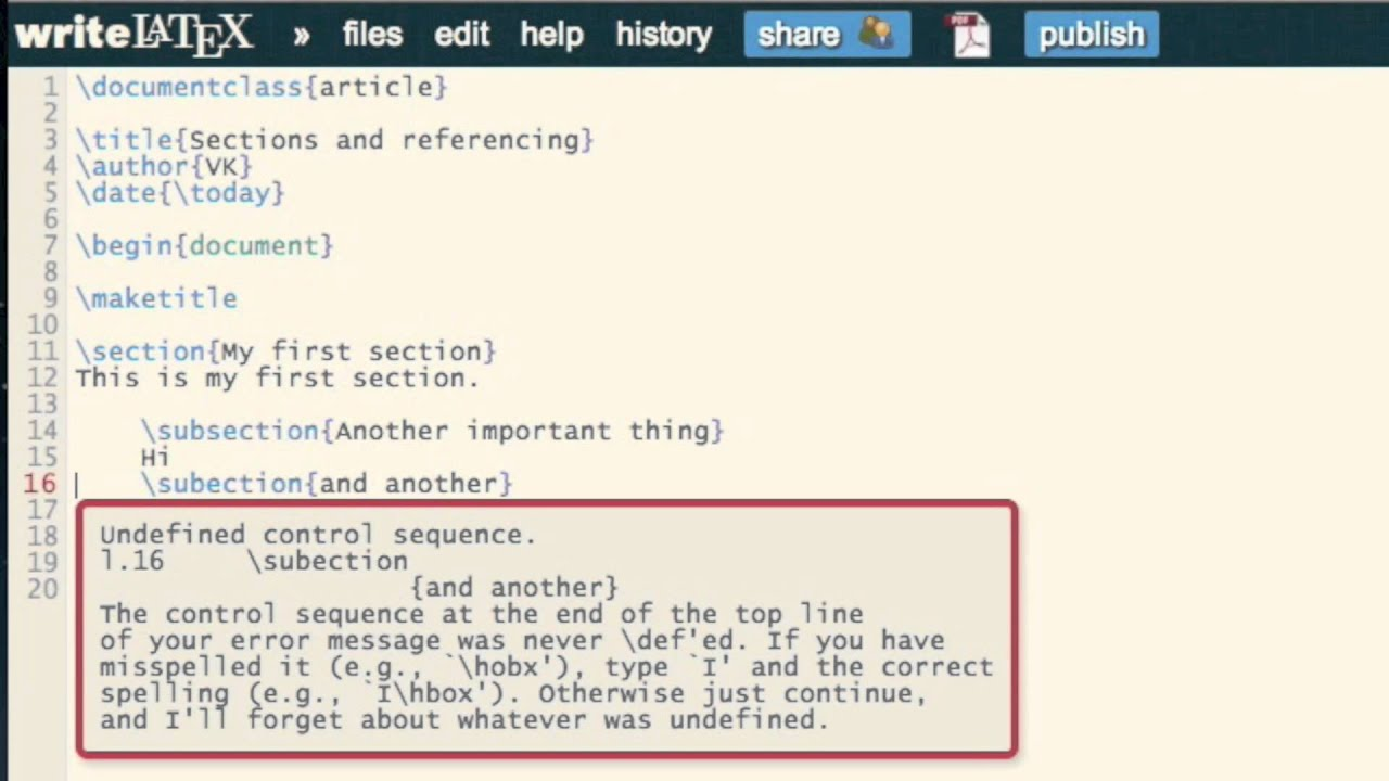 How to organise and reference sections in LaTeX documents