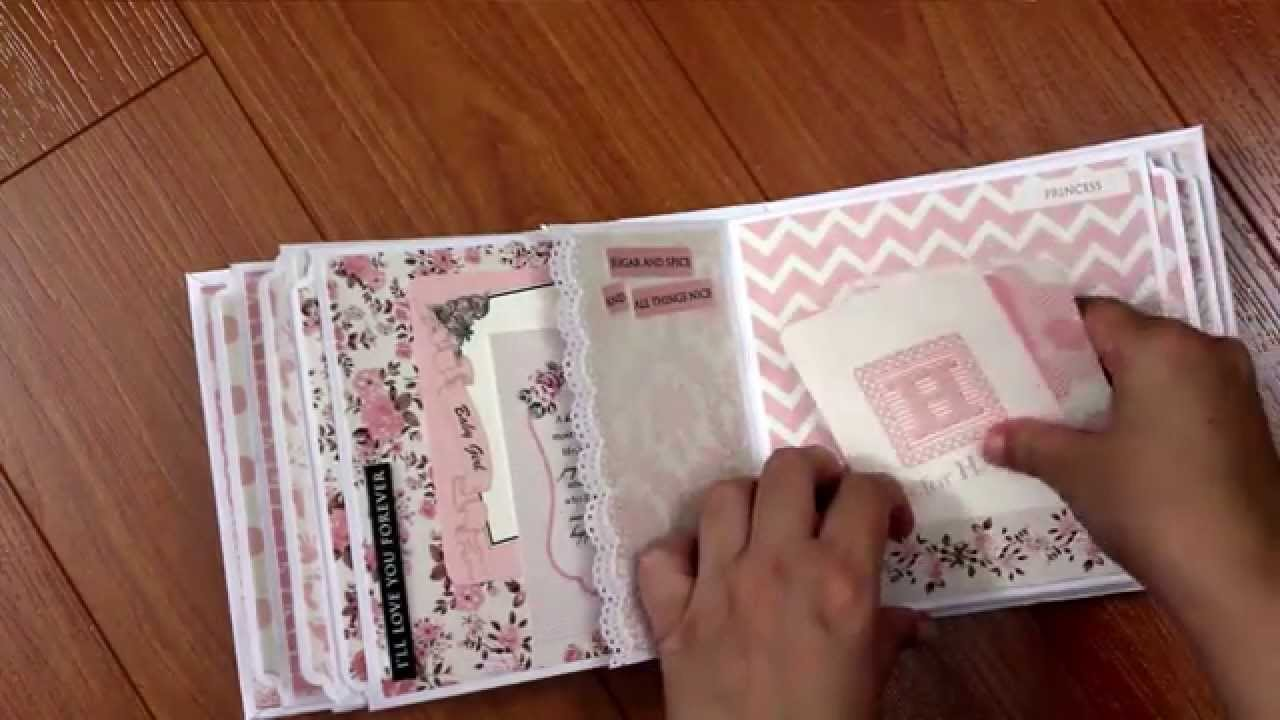 Kaisercraft Baby Girl Mini Album Pitterpatter Bundle Of