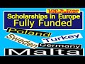 #Free education in Europe, #scholarships in Europe