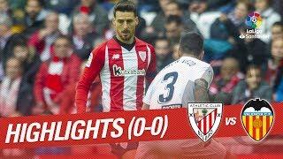 Resumen de Athletic Club vs Valencia CF (0-0)