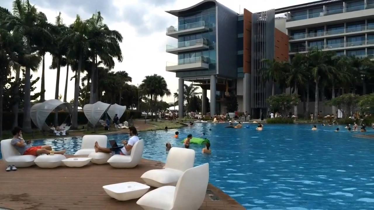 W Singapore Sentosa Cove Wet Pool Youtube