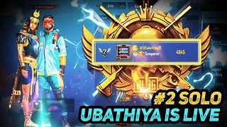 #2_solo_live | 18- | ROAD TO TOP 100 solo | how to push solo conqueror | UBATHIYA