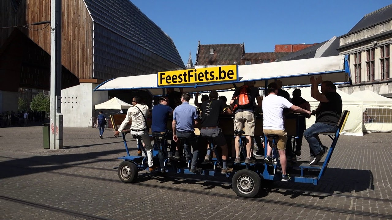 Гент - город в Бельгии. Туристическая прогулка.