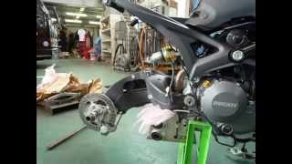DUCATI MONSTER 696 single sided swingarm