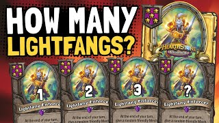 HOW MANY LIGHTFANGS CAN I GET?! | Battlegrounds | Hearthstone