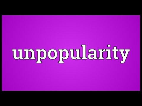 Header of unpopularity