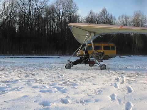 Дельталёт. Двигатель снегохода