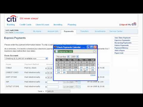 Citibank Credit Card Payment Online >> Citi Quicktake Demo How To Make An Express Payment Using Citibank