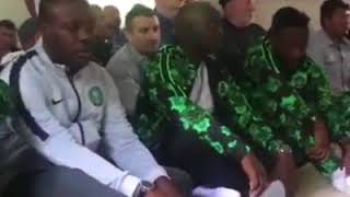 Eid Sallah Prayer By Super Eagles Players In Russia