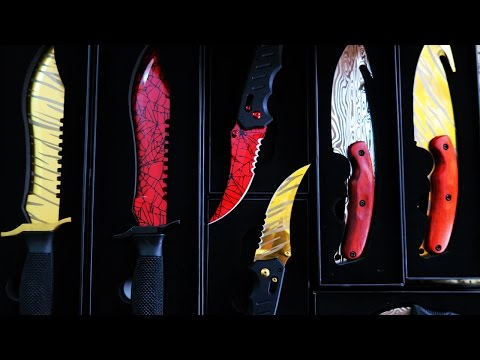 NEW REAL LIFE CS:GO KNIFE COLLECTION! (UNBOXING)