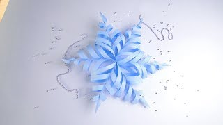 DIY 3D Paper Snowflake for Christmas |  How to make 3d paper Snowflakes - Step by step tutorial