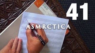 ASMR Handwriting famous song lyrics in Portuguese | Escrita em Português | Binaural Soft Spoken